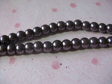 Glass Pearl Bead 4mm Jewelry Finding Deep Purple 115 Round Spacer Beads
