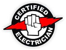 Certified Electrician Hard Hat | Helmet Sticker Label Electrical Sparky Laborer