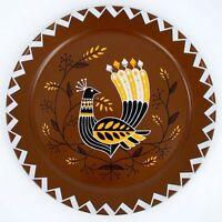 "Turkey Bird 18"" TIN SERVING TRAY Thanksgiving vintage-style design NEW"