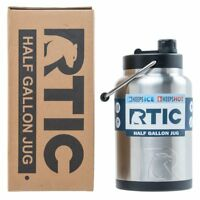 RTIC® Half Gallon Water Bottle / Tumbler Insulated Stainless Steel Jug 64 oz