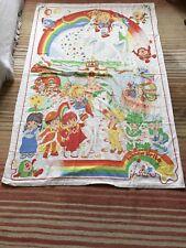 Vintage 1983 Hallmark Cards Rainbow Brite 1 Single Duvet Cover & 2 Pillowcases