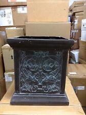 Frontgate Outdoor Square Bronze Patio Pot Planter Jar URN Flower Vase Pot