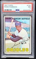 Vintage 1967 Topps HOF Orioles FRANK ROBINSON Baseball Card PSA 7 NM Low Pop
