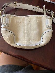 Coach Straw Small Natural Handbag