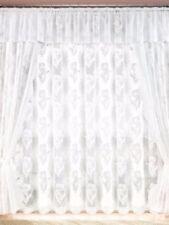 Gardine  Vorhang Höhe 245cm  breite    450cm  Store weiss
