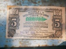 antique Wrigley's Spearmint  chewing gum Coupon Advertising
