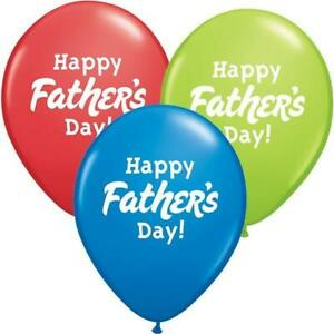 """Happy Fathers Day Assorted 11"""" Qualatex Latex Balloons"""