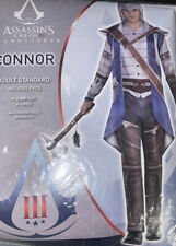 Assassin's Creed III Remastered Connor Costume Jumpsuit & Hood Size Adult - New!