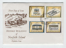 FDC Y03 Norfolk Island 1974 4v Historic buildings