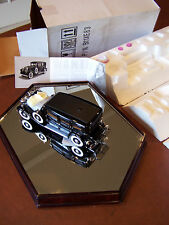 FRANKLIN MINT1930 CADILLAC V-16 AL CAPONE CAR BLACK 1/24 SCALE IN BOX W/ DOCS