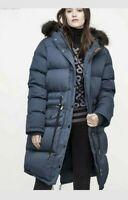 Pajar Canada Chrissy Long Goose Down Jacket Parka Womens XL msrp $599 Graphite