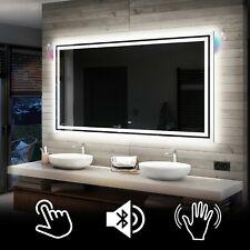 Illuminated LED Bathroom Backlit Mirror TOUCH  or SENSOR SWITCH | BLUETOOTH | 57