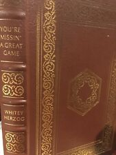 Easton Press: SIGNED: Whitey Herzog: Baseball Greats: Casey to Ozzie