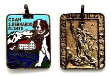 Medaglia Con Smalti Gran San Bernardo m. 2473 - Albergo Italia San Bernardo Da M
