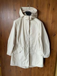 RRP £79 - JOHN LEWIS PARKA COAT Beige Soft Belted Jacket Shower UK 12 / 40 - NEW