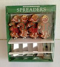 Novelty Gingerbread Butter Jam Knife Spreaders By Boston Warehouse Set of 4