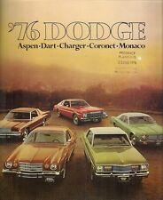 Dodge 1976 Export Markets Sales Brochure Dart Aspen Charger Coronet Monaco