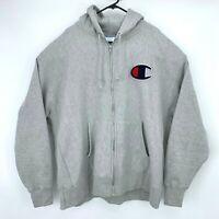 Champion Reverse Weave Sweater Men's Size 3XL Gray Full Zip Long Sleeve Hoodie