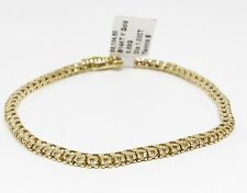 14K Yellow Gold Tennis Diamond Bracelet, Dia 1.03 CT