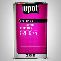 U-POL ANTI SILICONE SOLVENT FAST DEGREASER 5 LITRE S2001 PANEL WIPE BASECOAT 2K