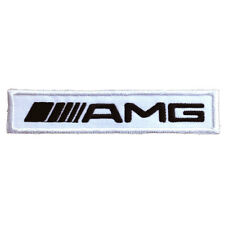 AMG Mercedes Benz Embroidered Patch Applique Embroidery Emblem 105x21mm White