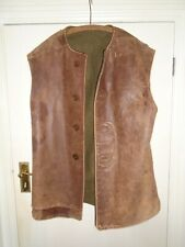 More details for 1 ww2 british army/raf leather jerkin. dated 1939. battle of france, dunkirk.