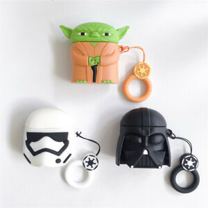 3D Star Wars Jedi Yoda Silicone Earphone Case Cover For Apple Airpods 1 2 Pro