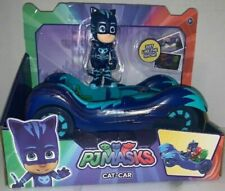 PJ Mas CAT-CAR Blue Vehicle & Catboy Figure (All 3 Figures Fit) NEW Just Play