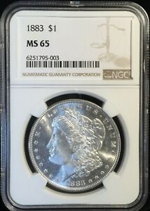 1883  Morgan Dollar == MS-65 NGC== Frosty w/ Reflective Fields == FREE SHIPPING!