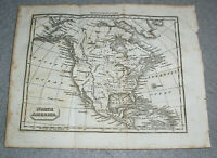 Antique North America Map United States New Spain Mexico Canada Rockies c. 1820