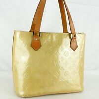 LOUIS VUITTON HOUSTON Shoulder Bag Purse Monogram Vernis M91004 Beige