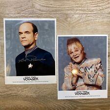 Star Trek Voyager Robert Picardo & Ethan Phillips Signed Licensed Photos!