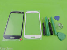 Premium White Front Screen Glass Lens for Samsung Galaxy SIII S3 i9300  +Tools