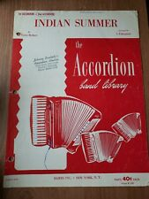 1st Accordion - 2nd Accordion Indian Summer  Accordion Band Library sheet Music
