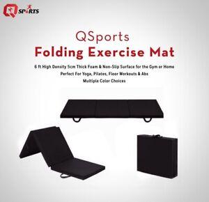 Tri Folding Mat Gym Exercise Training Workout Yoga Mat 5cm Thick Non Slip 6ft