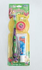 Smile Guard STRAWBERRY SHORTCAKE Suction Cup Toothbrush 3-piece TRAVEL KIT -Soft