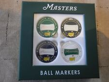 2018 Masters Augusta National set of 4 magnetic Ball Markers new in package