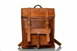 Genuine Leather Organizer Vintage Backpack Brown Travel Walking Handmade Bag