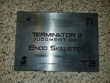 Terminator 2 Judgement Day Endo Skeleton Plaque ORIGINAL for ICONS Prop Replica
