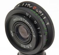 Industar-50-2 50mm 3.5 Objektiv USSR lens M42 pancake Pentax Canon Sony A tessar