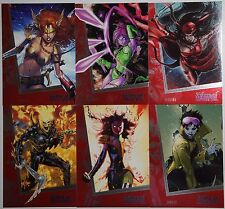 2013 Women Of Marvel 2: RUBY PARALLEL 90 CARDS SET (LAST ONE!)