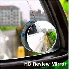 2Pcs Car Wide Angle Convex Blind Spot Round Stick-On Side View Rearview Mirror♩