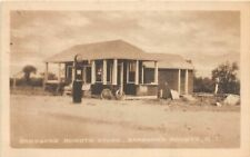 G62/ Barbour's Heights Rhode Island Postcard 1926 Store Gas Station Pump