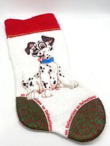 Vintage DISNEY Christmas Stocking 101 DALMATIONS PUPPIES CHRISTMAS 70s 80s