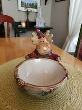"St. Nicholas Square Heartland Moose Candy Dish 6.5""×7""×9"""