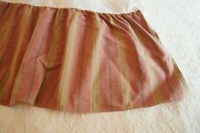 Wine, Olive, Gold Striped Gathered Daybed Skirt