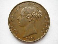 1858 Victoria Halfpenny NEF rim nicks