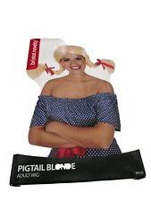Novelty Blonde Pigtail Wig/Oktoberfest Wig