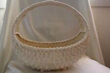 Vintage Large Porcelain Basket Vase