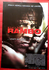 RAMBO 2008 SYLVESTER STALLONE JULIE BENZ RARE SERBIAN MOVIE POSTER